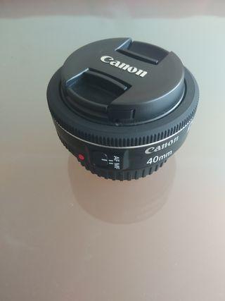 objetivo canon 40 mm