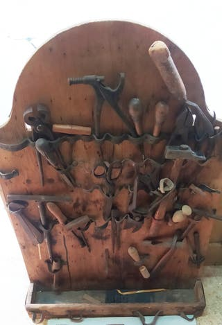 herramientas antiguas de Zapatero
