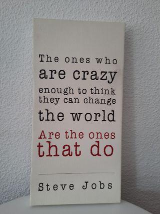 Cuadro Frases Motivacionales (STEVE JOBS)