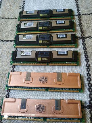 RAM DDR2 y DDR3 DE Servidores
