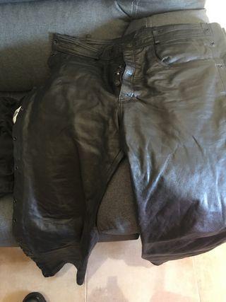 Pantalón piel moto