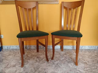 Conjunto 6 sillas comedor en madera tapizada
