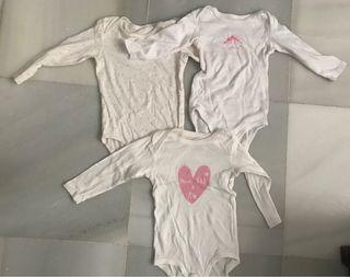 Bodies bebé 3 meses LOTE