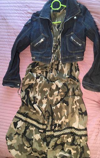 Conjunto cazadora y vestido largo M