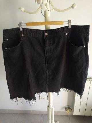 Falda vaquera negra