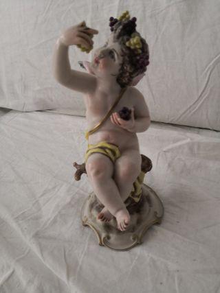 Figura de porcelana policromada de 20 cm