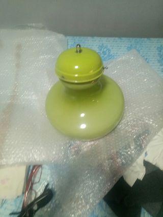 lámpara antigua de cocina .cristal