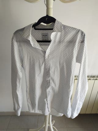 Camisa blanca estampada