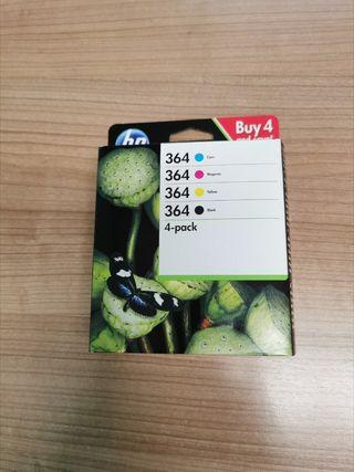 Pack 4 cartuchos HP 364