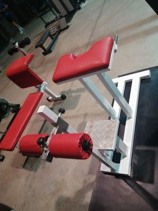 máquina lumbares de gimnasio.