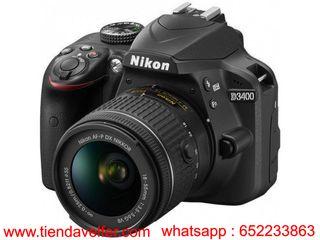 Cámara Digital SLR + AF-P 18-55mm f