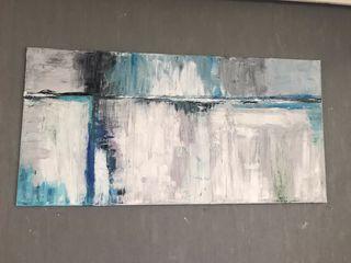 Cuadro abstracto pintado al oleo