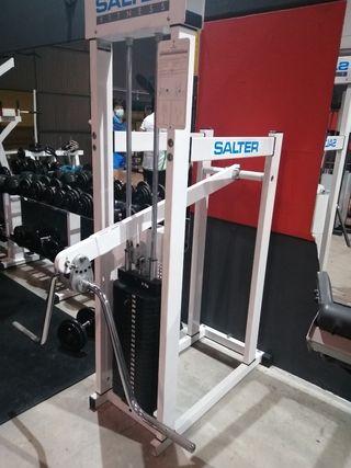 máquina gimnasio pecho y trapecio