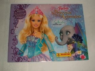 Álbum de cromos Barbie princesa de los animales