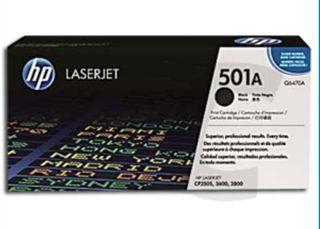 Cartucho HP 501 negro q6470a