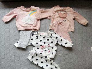 pack chándal bebé niña 6-9 meses