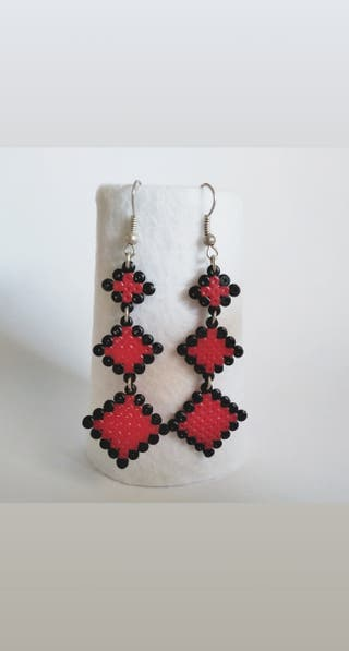 Pendientes largos Hama Beads