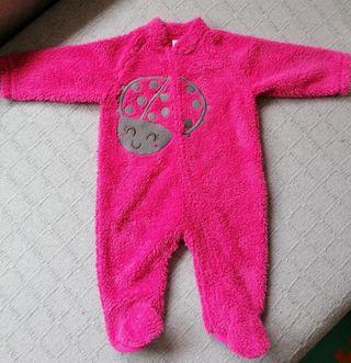 saco pijama o cubre pijama bebé rosa 9 meses
