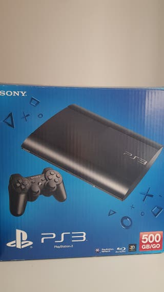 PS3 SUPERSLIM 500GB + 2 MANDOS + 7 JUEGOS
