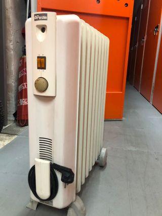 Radiador eléctrico de aceite.