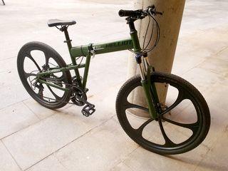 Bicicleta carretera y ciudad plegable