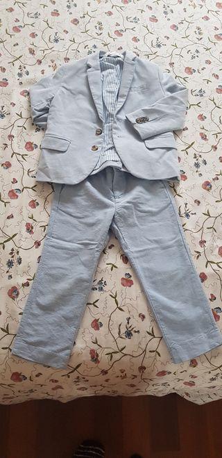 Traje de chaqueta de niño bebé. talla 2- 3 años