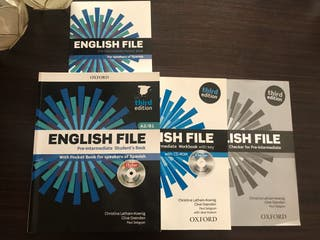 Libro inglés a2/b1. English file pre-intermediate.