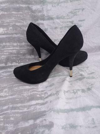 Zapato elegante terciopelo