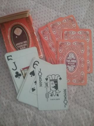 cartas de pocker chinas con canto dorado