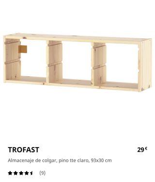Estantería TROFAST Ikea. Color Pino Madera Nueva