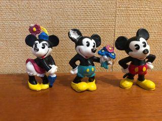 Muñecos/ Figuras Mickey Minnie Disney años 90