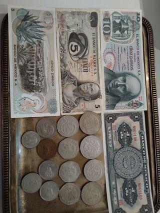 Monedas y billetes mexicanos