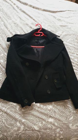 Chaqueta abrigo negra Zara