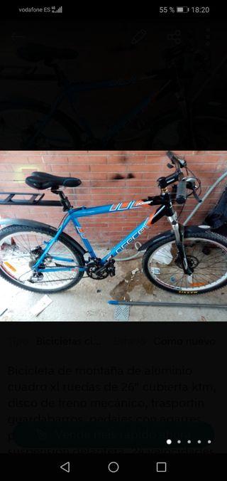 bicicleta de montaña de aluminio