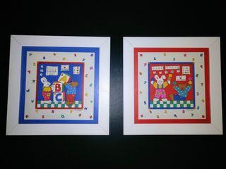 2 cuadros habitación infantil