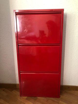 Zapatero Ikea metálico