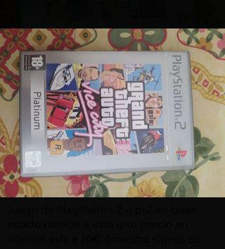 GTA vice city y age of empires 2 PlayStation 2 ps2