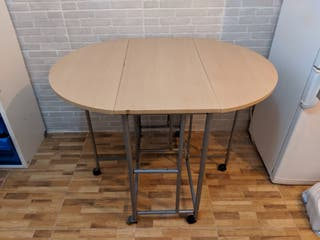 Mesa de madera extensible
