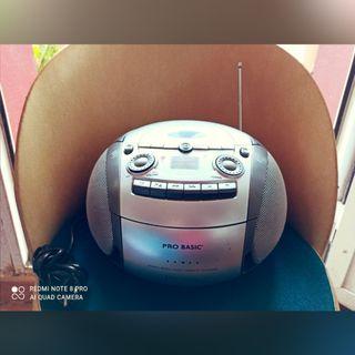 radio CD MP3 cassette FM música pro basic estéreo