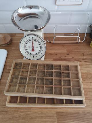 Cajón pequeño bandeja de imprenta de madera