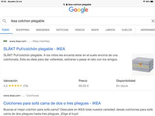 Colchon plegable IKEA