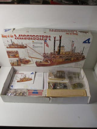 KIT BARCO 1/80 KING OF THE MISSISSIPI MADERA METAL