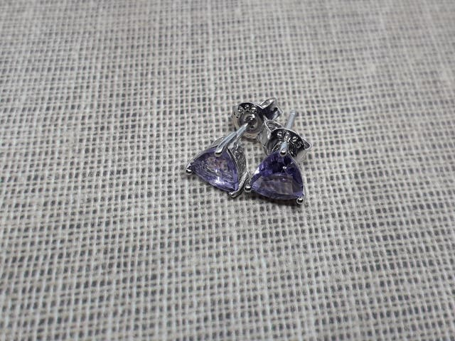 Jewelrypalace Genuine Amethyst Trillion Cut Earr