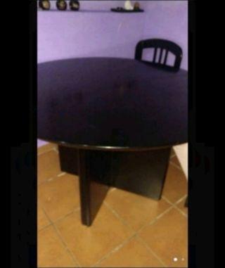 mesa 120cm extensible 4 sillas y transporte