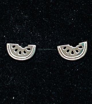 Pendientes en forma de sandías en plata de ley 925