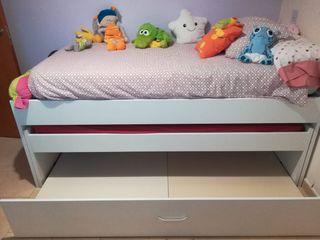 Cama nido colchón 90x190
