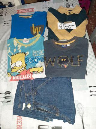 Lote ropa niño 5 años