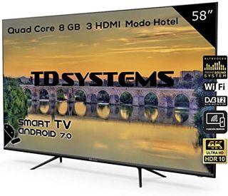 "SMART TV 58"" Led 4K Ultra HD TD Systems K58DLJ10US"