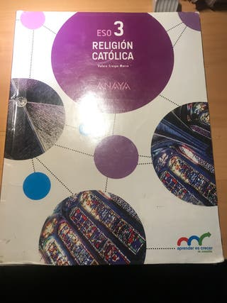 Libro de religión católica ANAYA 3º E.S.O