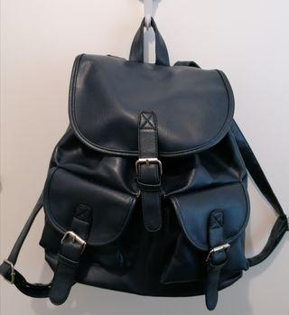 Bolso mochila azul